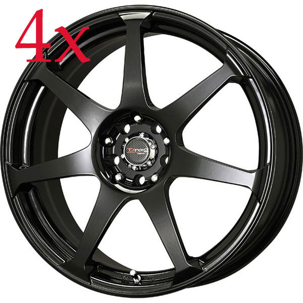 Drag Wheels Dr 33 16x7 4x100 4x114 Black Rims For Civic Integra Fit Prelude Xb For Sale Online