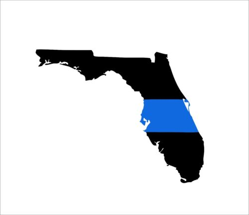 Florida State Thin Blue Line Decal SET Police Sheriff SWAT Sticker Graphic