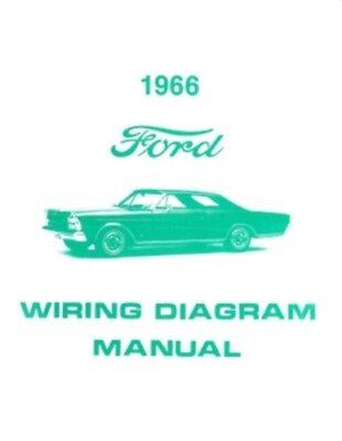 FORD 1966 Custom, Galaxie and LTD Wiring Diagram Manual | eBay