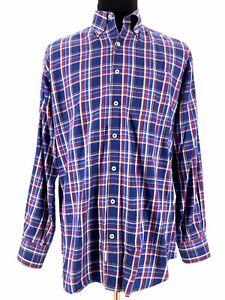 Peter-Millar-Mens-Button-Down-Long-Sleeve-Plaid-Check-Shirt-Dress-Size-Large