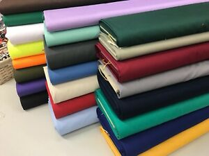 WIDE WIDTH 150 CM PLAIN POLY COTTON DRILL FABRIC - WORK WEAR 60 INCH