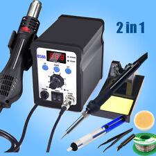 2 In1 Soldering Iron Rework Station Hot Air Gun Kit Led Digital Solder Welding