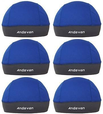 6 Andevan™ black skull cap//helmet liner lined w// Coolmax fabric one size-lots