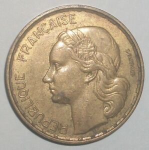 1950-France-50-franc-XF-rare-coin