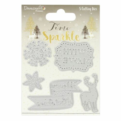 *OFFER* Dovecraft Premium Christmas /'Time to Sparkle/' Paper Craft Collection!