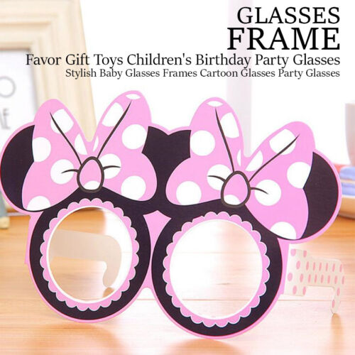 12 X KID FUNNY PARTY PAPER GLASSES MASK HAPPY BIRTHDAY GLASSES FRAME THEME PARTY