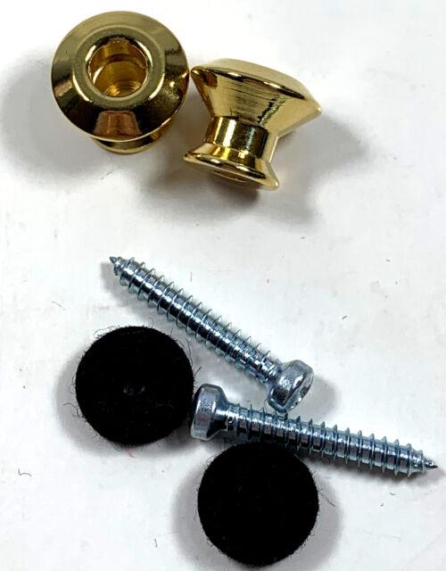 Jim Dunlop Straplok Dual Design Strap Button Set-Gold-2//Set 2PSLS034G