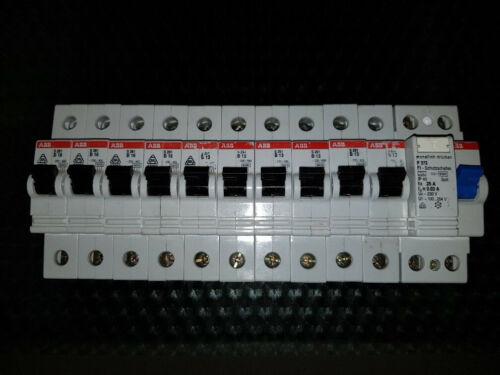 5x B16 Leitungsschutzschalter S261 TOP 5x B13 ABB FI 25//0,03 2p