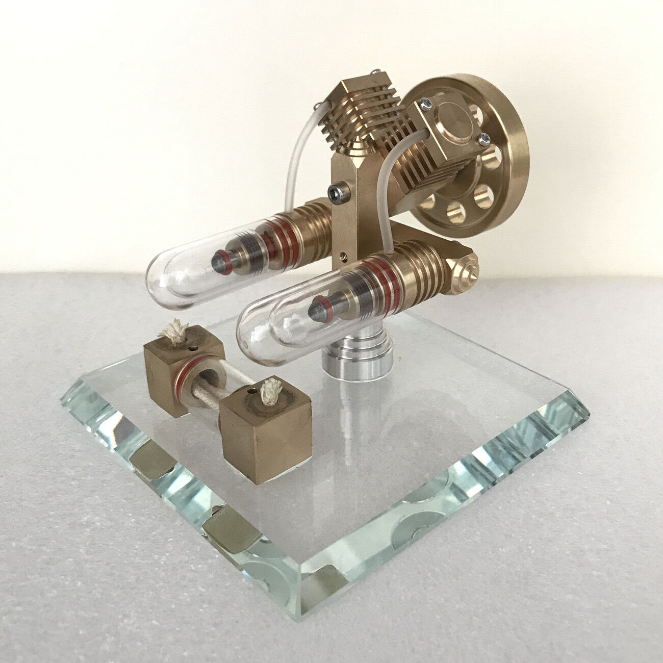 Hot Air Stirling Engine Model Toy Physics Education Air Heating Generator Motor