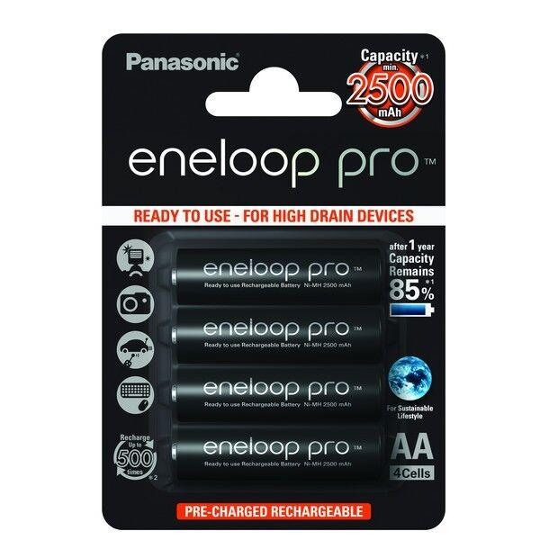 Panasonic eneloop Pro Akku AA - Mignon (BK-3HCDE 4BE) Neuste Version  | Online-Exportgeschäft