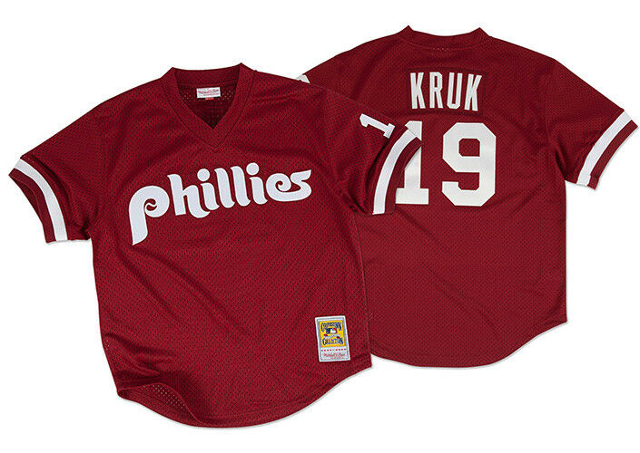 Mitchell & Ness MLB Philadelphia Phillies Phillies Phillies John Kruk  19 Authentisch Netz Bp 467856