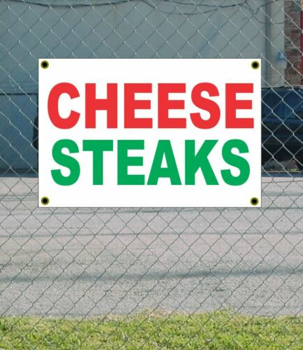 2x3 CHEESE STEAKS Red White /& GREEN Banner Sign NEW Discount Size /& Price