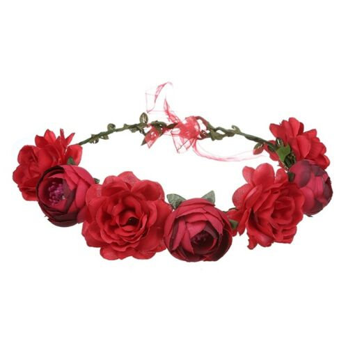 Women Flower Wreath Crown Floral Wedding Garland Headband Bridal Hair Accessory
