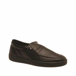MENS-GROSBY-ARNIE-BLACK-DRESS-WORK-CASUAL-FORMAL-MEN-039-S-NEW-SLIP-ON-SHOES