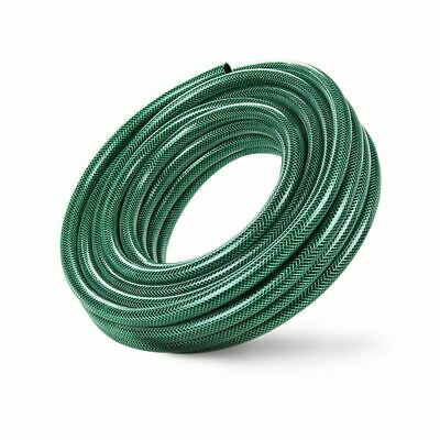 50m Heavy Duty Professional Reinforced Garden Hose Pipe 6 Layers Non Kink GREEN