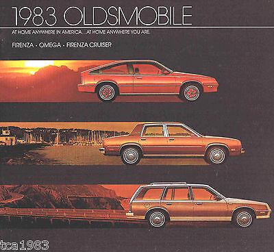 Broschüre Firenza,omega,cruiser,es,sx,lx,brougham 1983 Oldsmobile Broschüre