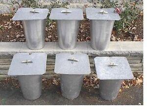 12 MAPLE SYRUP Aluminium Sap BUCKETS + 12 Lids Covers + 12 Taps Spouts Spiles