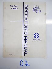 New Holland 1720 Tractor Operator's Owner's Manual 42172010  9/98