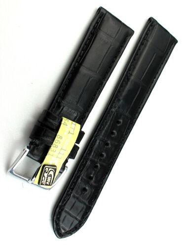20mm /18 Louisiana ALLIGATOR BAND Handarbeit GERMANY black KROKODIL Uhrenband