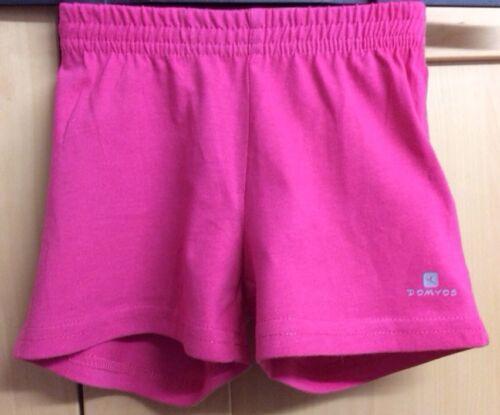 Girls Domyos Bright Pink Organic Cotton Shorts Age 2 3 4 Years Summer Sports