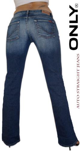 Only Jeans Donna Pantaloni auto Straight still pieno SUPER personaggio geniali lavaggio