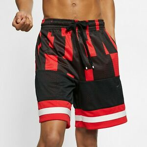 Nike-NSW-Air-Mesh-Shorts-Mens-Black-Red-Activewear-Sportswear-Sport-AR1841-657