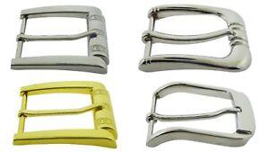 40-Piece-Pin-Belt-Buckle-Lot-Wholesale-Silver-Metal-Men-Women-1-1-2-034-40-mm-New