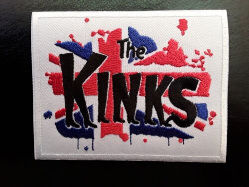 THE KINKS ENGLISH CLASSIC 60s 70s ROCK MUSIC BAND EMBROIDERED PATCH UK SELLER