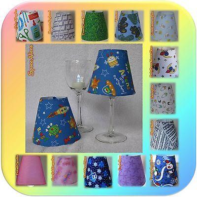 Kids/Baby/Cute~Small Fabric Wine Glass Lamp Shade~Tea Light/Night Light included