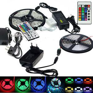 5M-SMD-3528-5050-5630-3014-300LEDs-RGB-White-LED-Strip-Light-12V-Power-Supply-ys