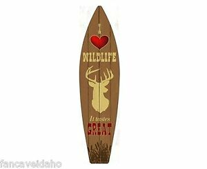 """Route 66 The Mother Road Metal Novelty Surfboard Sign 17/"""" x 4.5/"""" Wall Decor"""