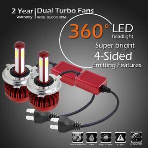 H4-9003-HB2-LED-Headlight-Kit-Light-Bulb-High-Low-80W-16000LM-Set-4-Sided-Globes