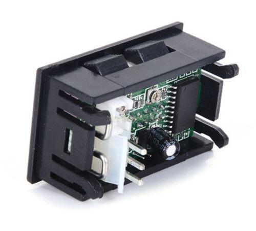 DC 0-100V Red/&Red LED 10A Dual Digital Panel Amp Volt Gauge Voltmeter Ammeter