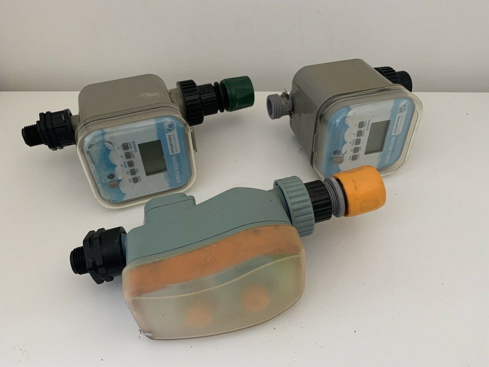 3 x Greenhouse Sensation Click & Drip timers for Waterbutt Spares or Repairs
