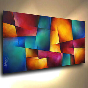 Image is loading modern abstract art contemporary giclee canvas print of