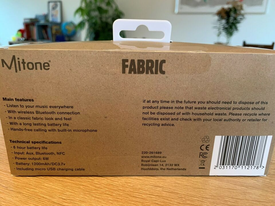 Højttaler, Andet mærke, Mitone Fabric