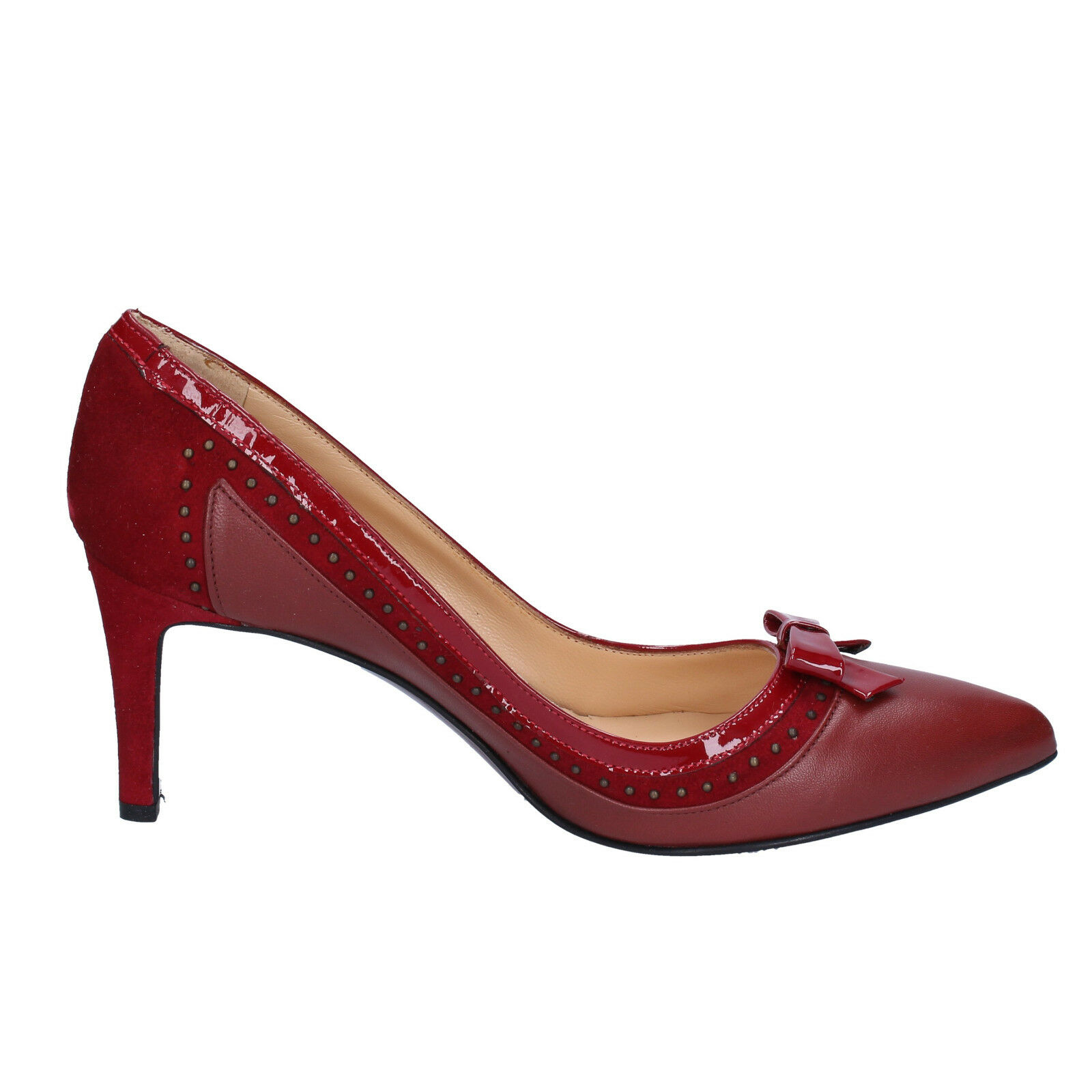 Women's shoes MI AMOR 7 (EU 37) 37) 37) courts burgundy suede patent leather BX401-37 0b02e2