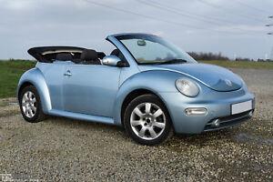 2003 VW NEW BEETLE CABRIO 1.6 [RHD] 102 PS - In Speedblue Metallic