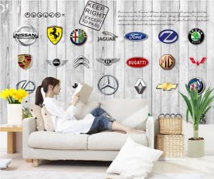 Details About 3d Luxury Car Logos 73 Wall Paper Murals Wall Print Wall Wallpaper Mural Au Kyra
