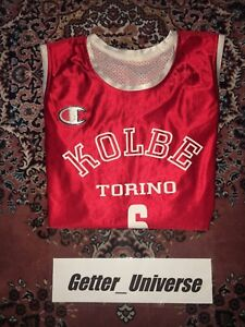 TRÈS RARE MAILLOT TERRAINS DE BASKET-BALL CHAMPION KOLBE TURIN MATCH PORTÉ ISSUE