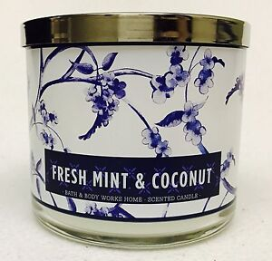 1-Bath-amp-Body-Works-FRESH-MINT-amp-COCONUT-3-Wick-Scented-14-5-oz-Candle