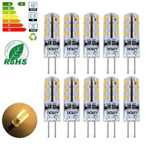 10x G4 3W 12V LED Lampe  Stiftsockel Leuchtmittel Birne Warmweiß Dimmbar DC//AC