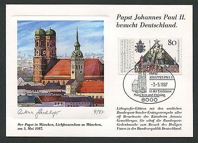 Begeistert Brd Mk 1987 Papst-besuch MÜnchen Dom Maximumkarte Pope Maximum Card Mc Cm M65 SchnäPpchenverkauf Zum Jahresende Motive Briefmarken
