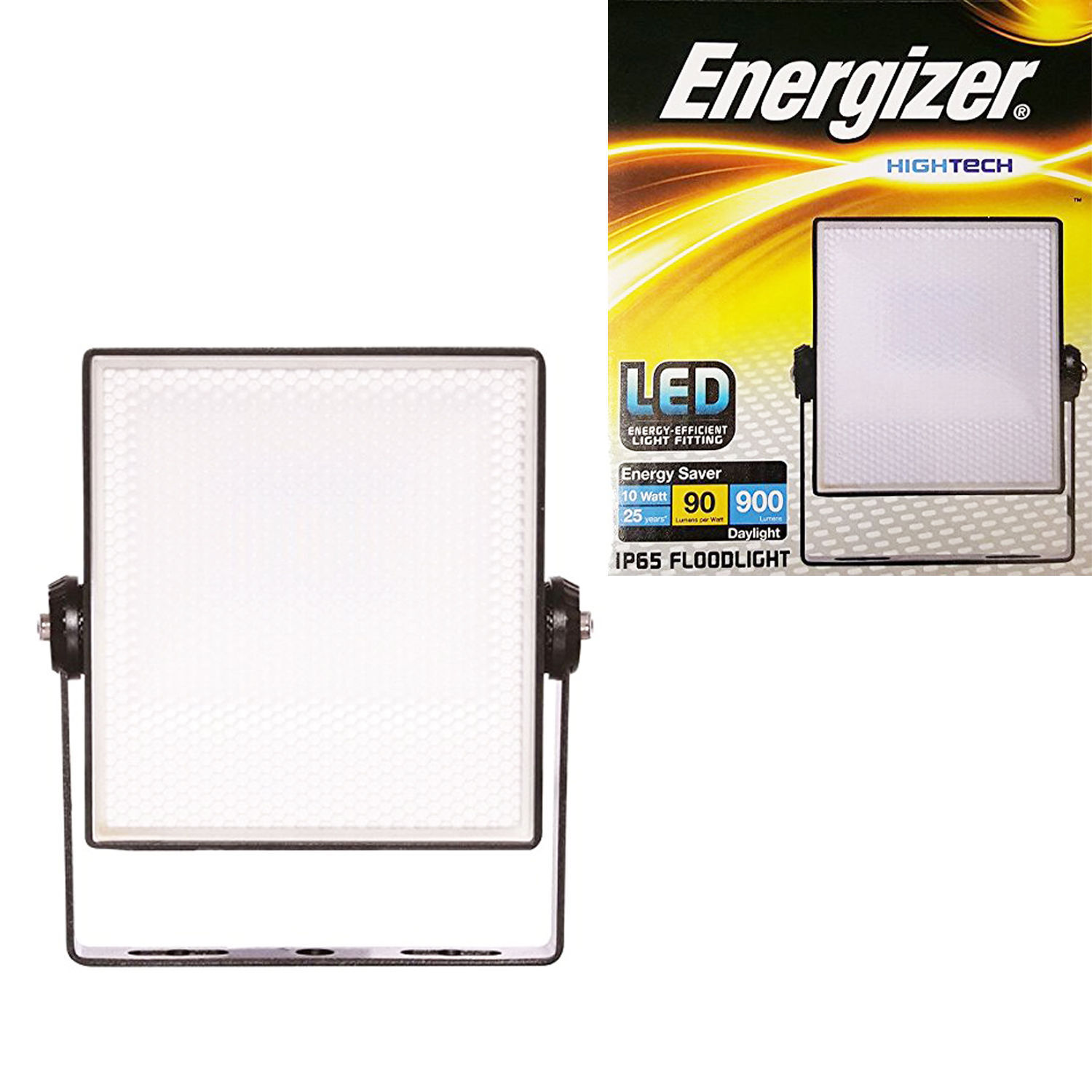 2 X Energizer 10w Led Ip65 Outdoor Security Floodlight Energy Saver Mains Powered Energizers Norton Secured By Verisign