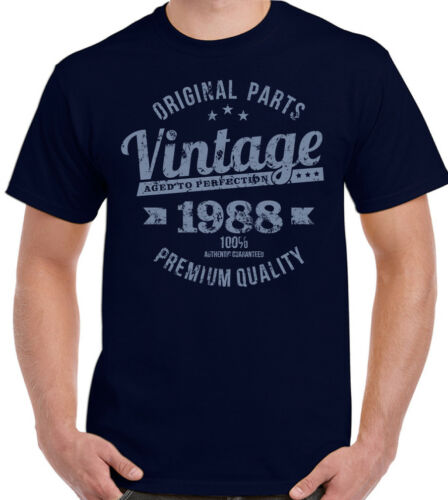 Vintage Year 1988 Premium Quality Mens 31st Birthday T-Shirt For A 31 Year Old