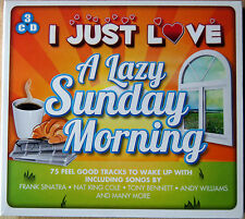 NEW & SEALED 3 CD PACK: I JUST LOVE A LAZY SUNDAY MORNING, 75 TRACKS. GREAT GIFT
