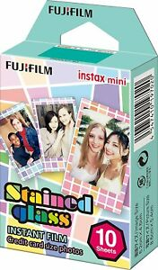 Fujifilm Instax Mini Pack 10 Films Developpement Instantane Theme Stained Glass