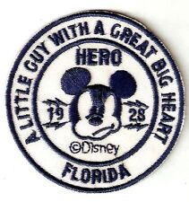 Mickey Mouse- A Little Guy with A Great heart- Hero- embroidered Iron on Patch