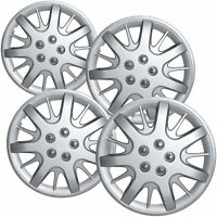 2002 Chevy Impala Steel Wheel Snap On Silver 16 Hub Caps 63232sm 4-pc