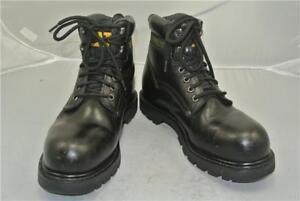 caminar con de Botines de para de negro cuero Máquinas Reino tamaño Unido Caterpillar acero puntera tqvqPrnWT
